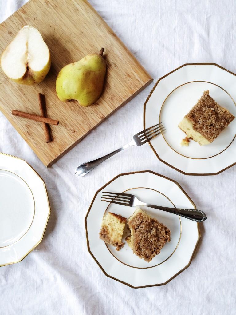Gluten Free Pear Streusel Coffee Cake